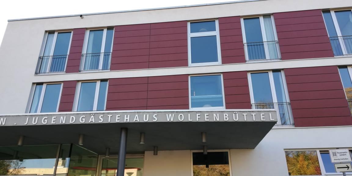 Der Eingang des Jugendgästehaus Wolfenbüttel